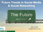 Future Trends in Social Media and Social Networks