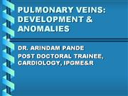 PULMONARY VEINS: DEVELOPMENT & ANOMALIES
