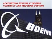 Accounting system at Boeing