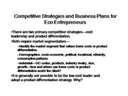 Competitive Strategies and Business Plan...