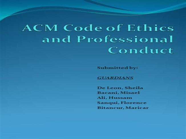 ACM Code of Ethics And Professional Conduct |authorSTREAM