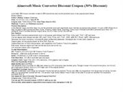 Aimersoft Music Converter Discount Coupon (30% Discount)