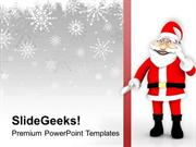 CHRISTIAN SANTA CLAUSE COMES TO YOUR HOME PPT TEMPLATE