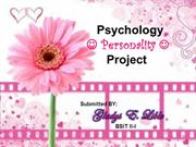 Psychology Personality Project