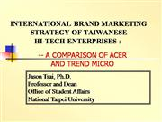 INTERNATIONAL BRAND MARKETING STRATEGY O...