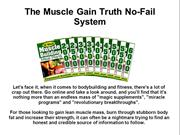 The Muscle Gain Truth No-Fail System Review