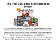 The Real Deal Body Transformation System