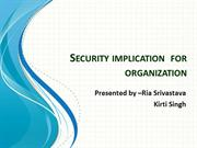 Security implication  for organization