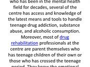 Treating adolescent for substance abuse in Virgin