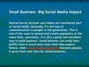 Small Business -Big Social Media Impact | Social Media Marketing