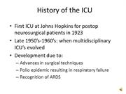 Anesthesia for PACU, ICU, MODS dicttaed slides 71-98