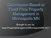 Commission-Based or Fixed Price Property Management in Minneapolis MN