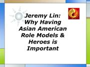 Jeremy Lin Why Having Asian American Role Models & Heroes is Important