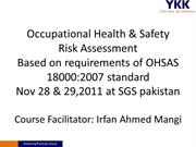 Risk Assessment SGS OHSAS 18001