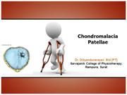 Chondromalacia patella dnbid lecture 2012