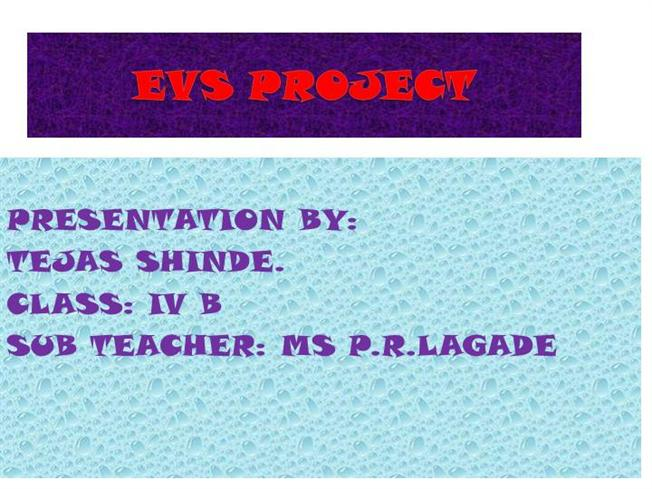 Evs Project On Water Pollution Pdf