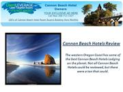 Cannon Beach Hotels - Paradise for Your Summer Vacation Deals