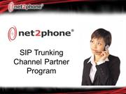 SIP Trunking Channel Partner Program
