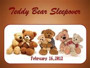 Teddy Bear Sleepover 2012