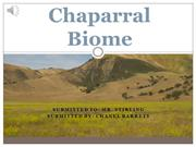 Chaparral Biome - Chanel Barrett done