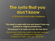 Presentacion_The_syria_that_you_dont_know