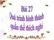 Bi 27 Qu trnh hnh thnh qun th thch nghi