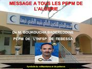 MESSAGE du Mr BOUKOUCHA