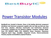 Power Transistor Modules