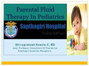 Intravenous fluid management in Pediatrics