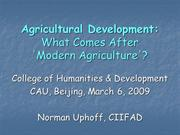 Agricultural Development