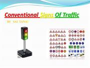 Conventional signs of traffic
