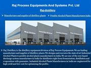 Raj Process Equipments And Systems Pvt. Ltd - raj-distillery