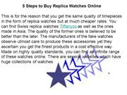 5 Steps to Buy Replica Watches Online