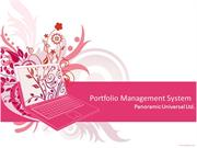 Portfolio Management System_Software developed by Panoramic Universal