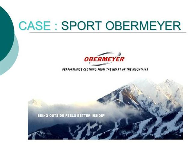 sport obermeyer case analysis solution Isye 4301: supply chain economics case study | sport obermeyer group 2: jordan avery michael gilkenson alina cornejo fabio romero farida jariwala.