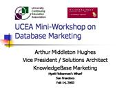 UCEA Mini-Workshop