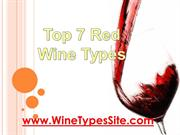 Top 7 Red Wine Types