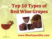 Top 10 Types of Red Wine Grapes