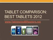 Tablet Comparison- Best Tablets 2012