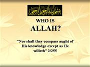 Knowing Allah & His Prophets (s)