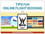 Tips for Online Flight Booking