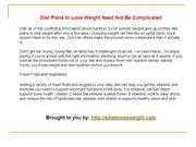 Diets that lose weight fast