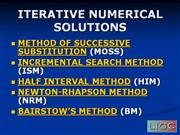 ITERATIVE NUMERICAL SOLUTIONS