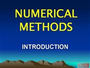 NUMERICAL METHODS INTRODUCTION