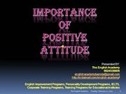 How to Develop Positive Attitude