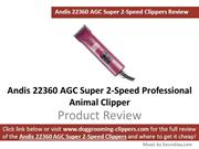 Andis AGC Super 2 Speed Animal Clippers