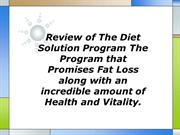 Review of The Diet Solution Program