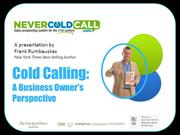 Cold Calling A Small Business Owner