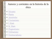 CORRIENTES EN LA HISTORIA DE LA ETICA