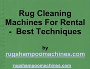 Rug Cleaning Machines And Rugs Cleaning Appliances Rental Powerpoint